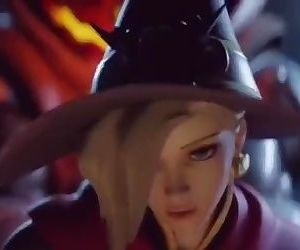 Witch Mercy Pounded by..