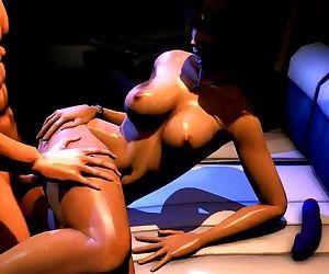 3D Lara Croft orgy and..