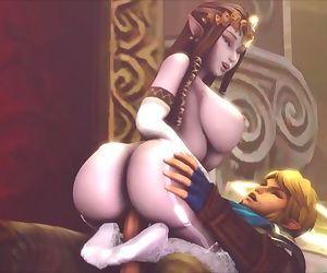 Big-Titted Zelda Rides..