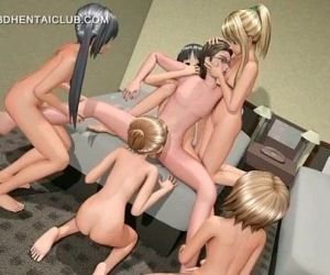 3d anime gangbang with..
