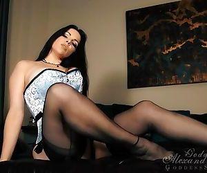 Alexandra black stockings