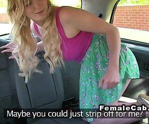 Female cab driver licks..