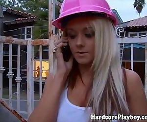 Busty blonde lesbian..