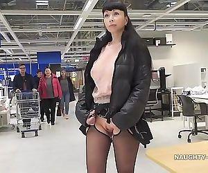 Short skirt and sheer..