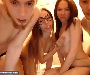 2 girls 2 boys, orgy at..