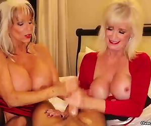 Two grannies jerking..
