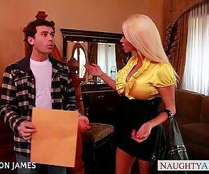 Salacious blonde Nikita..