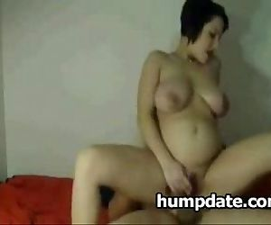 Sexy pregnant wife is..