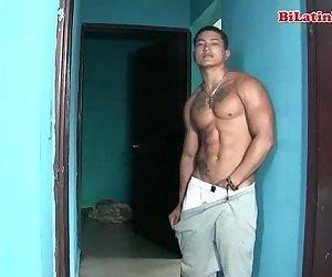 Hot latino men with big..