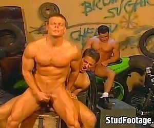 Amazing bikers gay orgy..