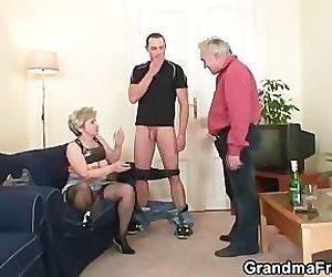 Hot threesome after..