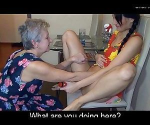 kitchen sex. granny and..