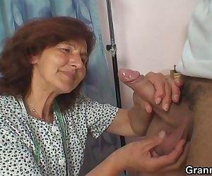 Sewing granny enjoys..