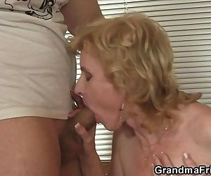 Mature slut takes two..