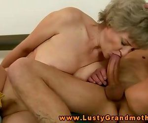Amateur blonde GILF is..