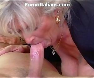 Milf blonde gets beat..