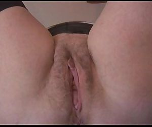 Sexy hairy granny in..