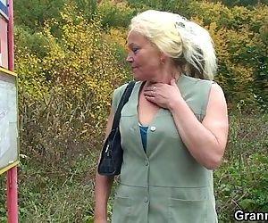 Granny slut is picked..