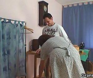 He bangs sewing granny..