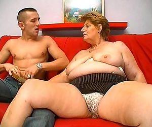 Mature fat granny..