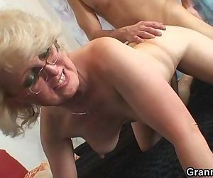 She pleases his horny..