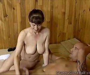 Grannys Naughty Blowjob..