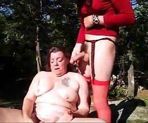 Old slut having fun..