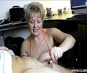 Naughty Mature Handjob..