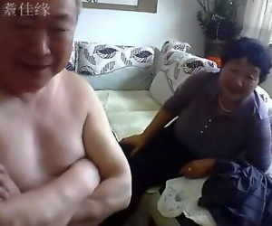 Chinese old couple in..