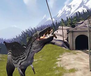 Lara Croft Vs T rex..