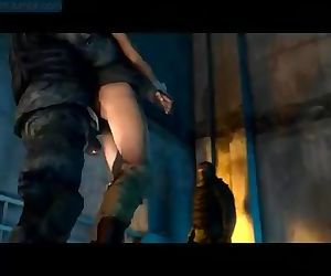 Lara Croft fucked on..
