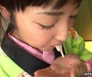 Asian bitch in a kimono..