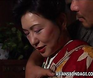 Asian mature bitch has..