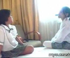Two teen lesbian Asian..