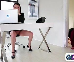 Georgia Jones is licked..