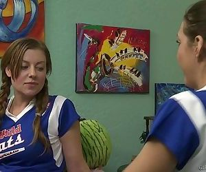Lesbian cheerleaders in..