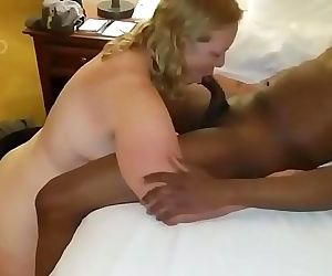Chubby blonde milf gets..
