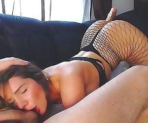 Slut in sexy pantyhose..