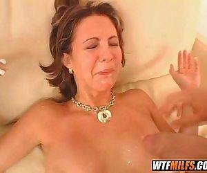 hot brunette milf..