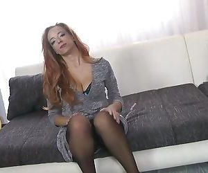 Ginger mom with big..