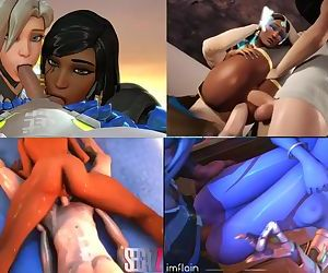 Overwatch Ana, Pharah..