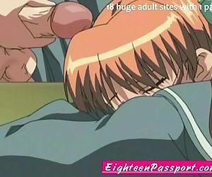 Anime schoolgirl and..