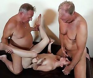 Old men put their cocks..