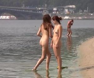 Naughty young nudists..