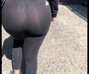 Incredible see thru ass..
