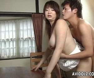 Asian busty bitch gets..