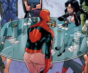AVENGERS STRIP POKER..