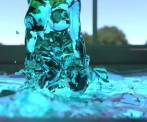 Transparent Slime Girl..