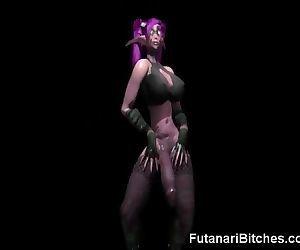 3D Futanari Elf Jizzes..