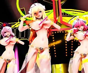 3D MMD Yukari, Eirin &..